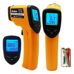 Laser LCD Digital IR Infrared Thermometer Temperature Meter Gun Point -50~330 Degree Non-Contact Thermometer, Home Multi tools, Heat checker Meter IP18