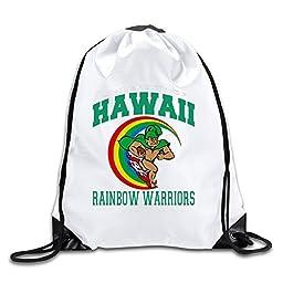 BOoottty University Hawaii Rainbow Warriors Drawstring Backpack Bag