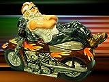 MOTORCYCLE COOKIE JAR- BIKER CHILLIN