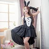 バックロングドレスバニーガール嬢コスプレ衣装コスチューム衣装ガールハロウィンバニーガールコスプレバニーcose2116