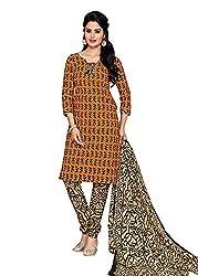 RK Fashion Orange Colour Cotton Unstitched Dress Material (CHANDANI1032-Orange-Free Size)