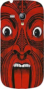 Snoogg Aztec Face Case Cover For Samsung Galaxy S3 Mini