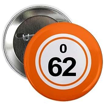 Amazon Com Bingo Ball O62 Sixty Two Orange 2 25 Inch