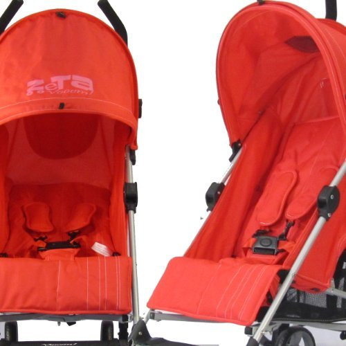 BABY TRAVEL ZETA VOOOM - WARM RED STROLLER BUGGY PUSHCHAIR FROM BIRTH