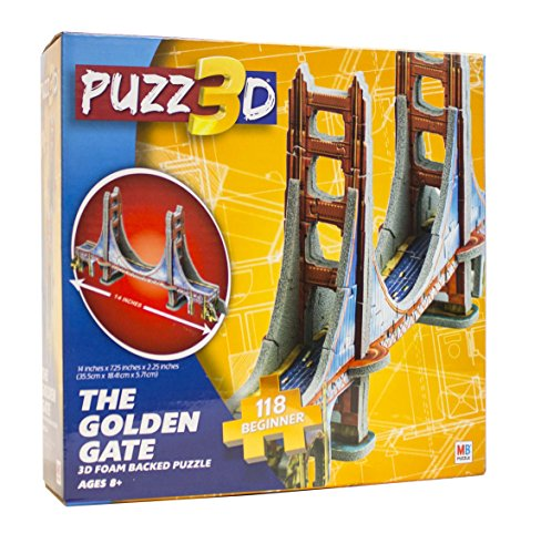 Puzz 3D The Golden Gate Bridge 118 Piece Puzzle - 1