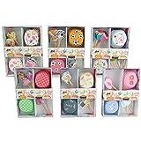 Bakaji Craft, Kit decorazione muffin cupcake 24 pirottini + 24 stuzzichini