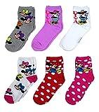 Disney Minnie Mouse Womens Crew Socks 6 Pairs