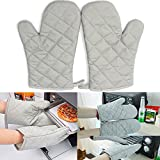 2PCS Kitchen Heat Resistant Cotton Glove Microwave Oven Pot Holder Baking BBQ Cooking Glove