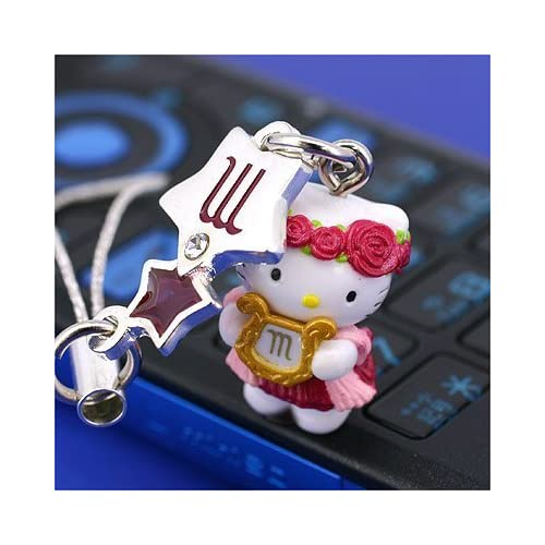 Sanrio Hello Kitty Astrologic Venus Star Charm Cell Phone Strap (Scorpio)   Japanese Import ***Free Domestic Standard Shipping for This Item***