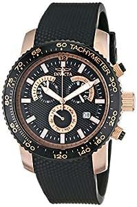 Invicta Men's 11294 Specialty Chronograph Black Textured Dial Black Polyurethane Watch