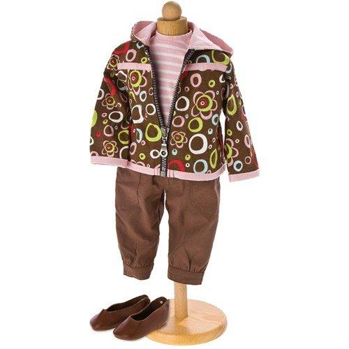 Quendy : Vêtements de poupée (veste - T-shirt - pantalon et chaussures) - 50 cm