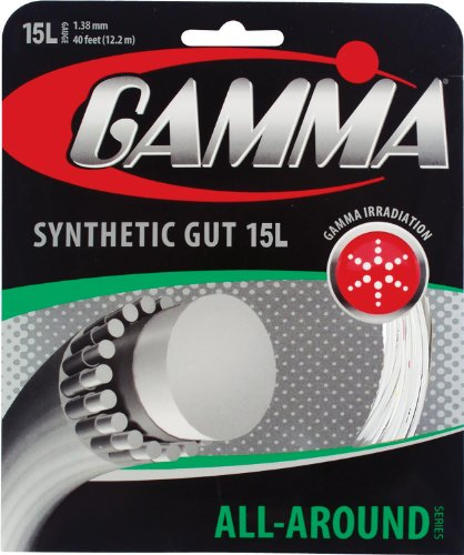 Gamma Synthetic Gut 15L Tennis String, White