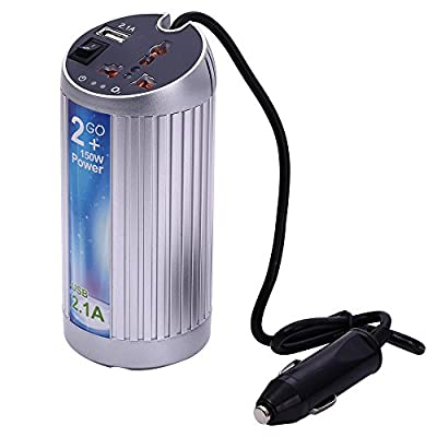 Gearbest 150W DC 12V to AC 220V Car Power Inverter Vehicle Air Purifier Freshener Oxygen Bar Negative Oxygen Ions with