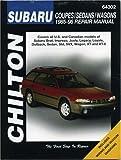 Chilton Subaru Coupes/Sedans/Wagons 1985-96 Repair Manual