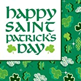 Creative Converting St. Patrick s Day Lunch Napkins with Shamrock Party Design, 18 Per Package