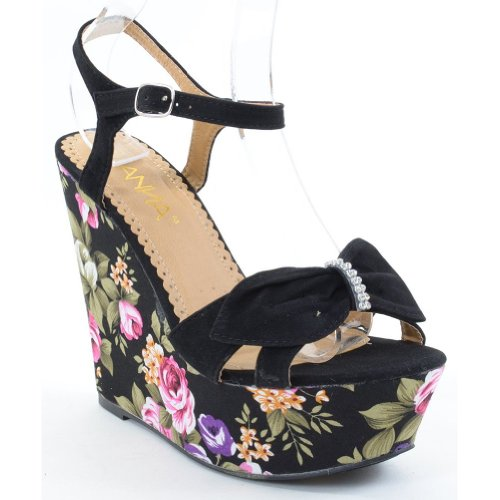 Funky Wedge Sandals front-998975