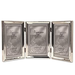 Bead Border Design Lawrence Frames Polished Silver Plate 8 by 12-Inch Picture Frame