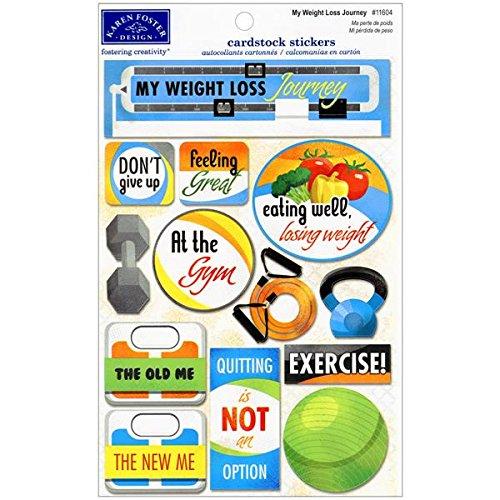 Karen Foster Design Acid And Lignin Free Scrapbooking Sticker Sheet, My Weight Loss Journey