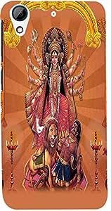 PrintVisa 3D-Htcd728-D8085 Religious Durga Case Cover for HTC Desire 728