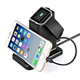 Fitbit Blaze Charger, MixMart Smart Watch Mobile Phone Tablet Charging Station for Fitbit Blaze and Universal Smart Phones and Tablets (Blk) (Color: Black, Tamaño: Fitbit Blaze Charger)