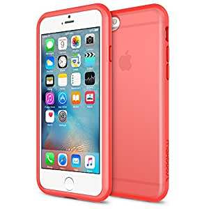 iPhone 6S Case, Maxboost® [HyperPro Series] Premium Protective Shock-Absorbing TPU Frame Durable Bumper Case, Matte Soft Anti-Scratch Finish Fits iPhone 6 2014 / 6S 2015 - Peach Echo
