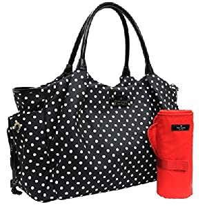 Kate Spade Black Spot Nylon Stevie Baby Bag by Kate Spade from Kate Spade