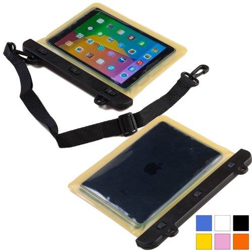 Cooper Cases(TM) Voda Prestigio MultiPad 8.0 Pro Duo / Thunder 7.0i Wasserdichte Tablethülle in Gelb (Leicht, berührungsempfindliches Sichtfenster, verstellbarer Schultergurt)