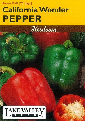 Lake Valley 230 Pepper Calif Wonder Green Bell Heirloom Seed Packet