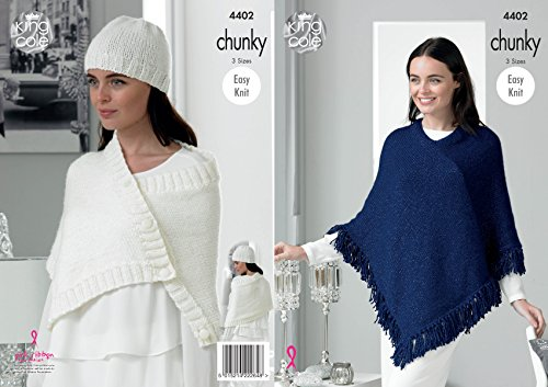 Poncho, wrap and hat pattern