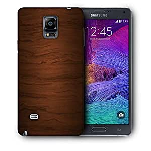Snoogg Wood Texture Printed Protective Phone Back Case Cover For Samsung Galaxy NOTE 4 / NOTE IIII