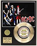"AC/DC Laser Etched With Lyrics To ""Back In Black"" Limited Edition Gold Record Display"