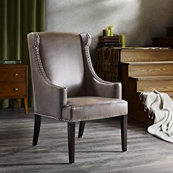 Madison Park Marcel High Back Wing Chair Taupe See below