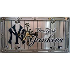 2 , Yankee Clocks, on,  ,NEW YORK YANKEES, on, PIN STRIPES, , Metal Sign, on, Metal,...