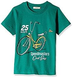 Fox Baby Boys' T-Shirt  (Green_18-24 months_327563)