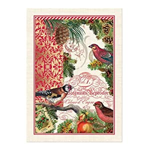 Michel Design Works Woven Cotton Kitchen Towel Christmastime