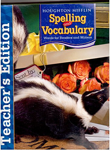 Spelling and Vocabulary: Words for Readers and Writers, Grade 4, Teacher's Edition