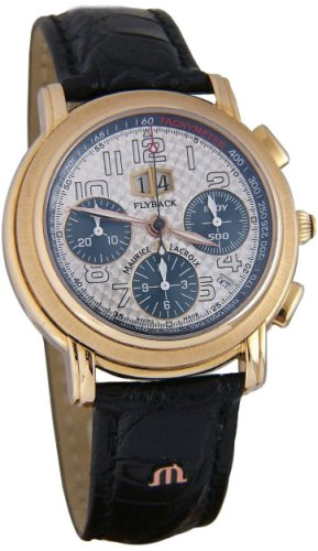 Maurice Lacroix Masterpiece Flyback Annuaire 18k Rose Gold Mens Watch ml6178-pg101-22e