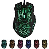 HAVIT® HV-MS672 Ergonomic LED Stress-ease Mouse with 7 Soothing LED Colours, 6 Buttons Stress-ease