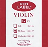 Super Sensitive Red Label 2147 Violin G String, 4/4 Medium
