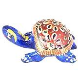 Rajgharana Handicrafts Multi Color Metal Meenakari Metal Tortoise - (3 Cm X 5 Cm)