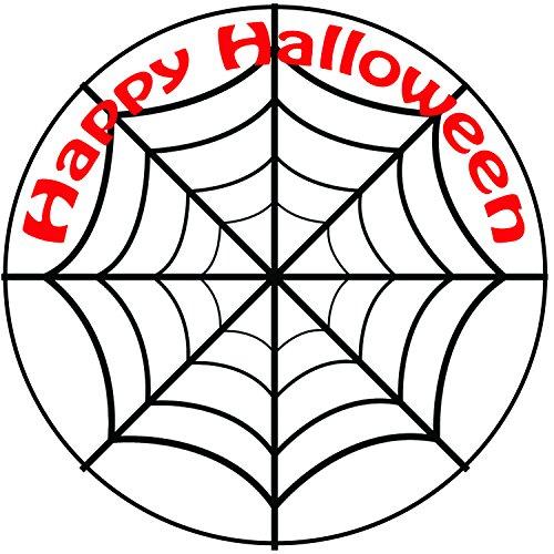 Happy Halloween araignées Web gâteau-Un Rond prédécoupés 20,3cm Décoration Glaçage (20cm)