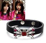 《会いたい》 ユン・ウネ 着用 ブレスレット ☆ Koon Reborn Leather Bracelet-Ribbon A