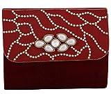 Vdesi Women's Sling Bag (Maroon Gold Off-White) (V035MRN)