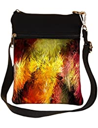 Snoogg Abstract Colorful Design Cross Body Tote Bag / Shoulder Sling Carry Bag