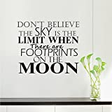 COFFLED Motto Wall Decal Stickers,Perfect Wall Decoration with Words for Bedroom or Sitting Room