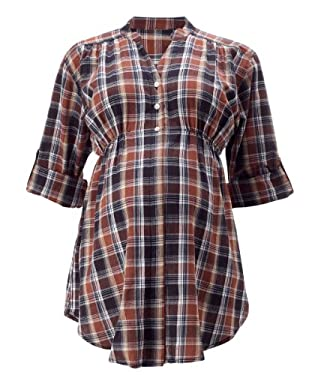 Maternity Elasticated Check Shirt