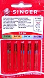 10 Original Singer Nähmaschinen Nadeln Sortiment 2020 Stärke 70/09 80/11 90/14 100/16 für gewebte Stoffe