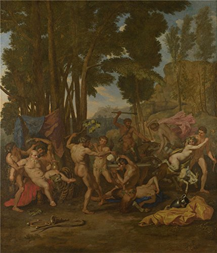 Oil Painting 'After Nicolas Poussin - The Triumph Of Silenus,about 1637', 24 x 28 inch / 61 x 71 cm