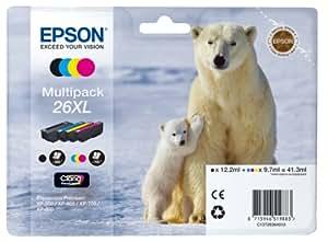 Epson T2636 Tintenpatrone Eisbär, Multipack, 4-farbig