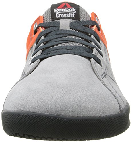 usa reebok mens crossfit lite lo tr training shoe flat grey flux orange hazard orange gravel. Black Bedroom Furniture Sets. Home Design Ideas